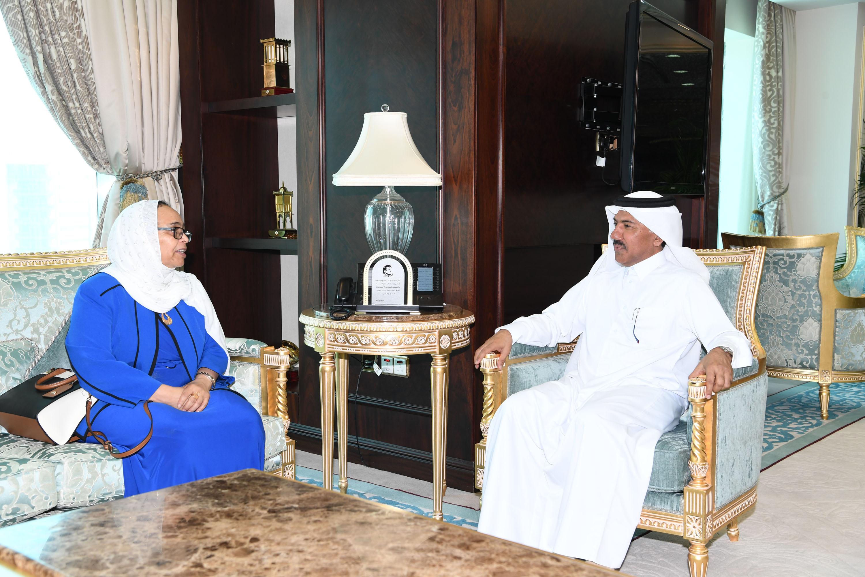 الأمين العام لوزارة الخارجية يجتمع مع سفيرة إثيوبيا