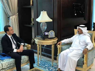الأمين العام لوزارة الخارجية يجتمع مع السفير الفرنسي والقائمين بالأعمال الأمريكي والبريطاني