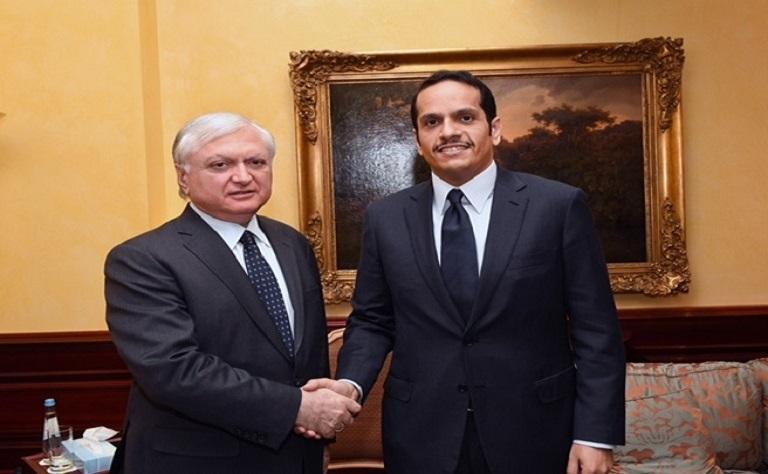 سعادة وزير الخارجية يجتمع مع نظيريه الأرميني والقيرغيزي