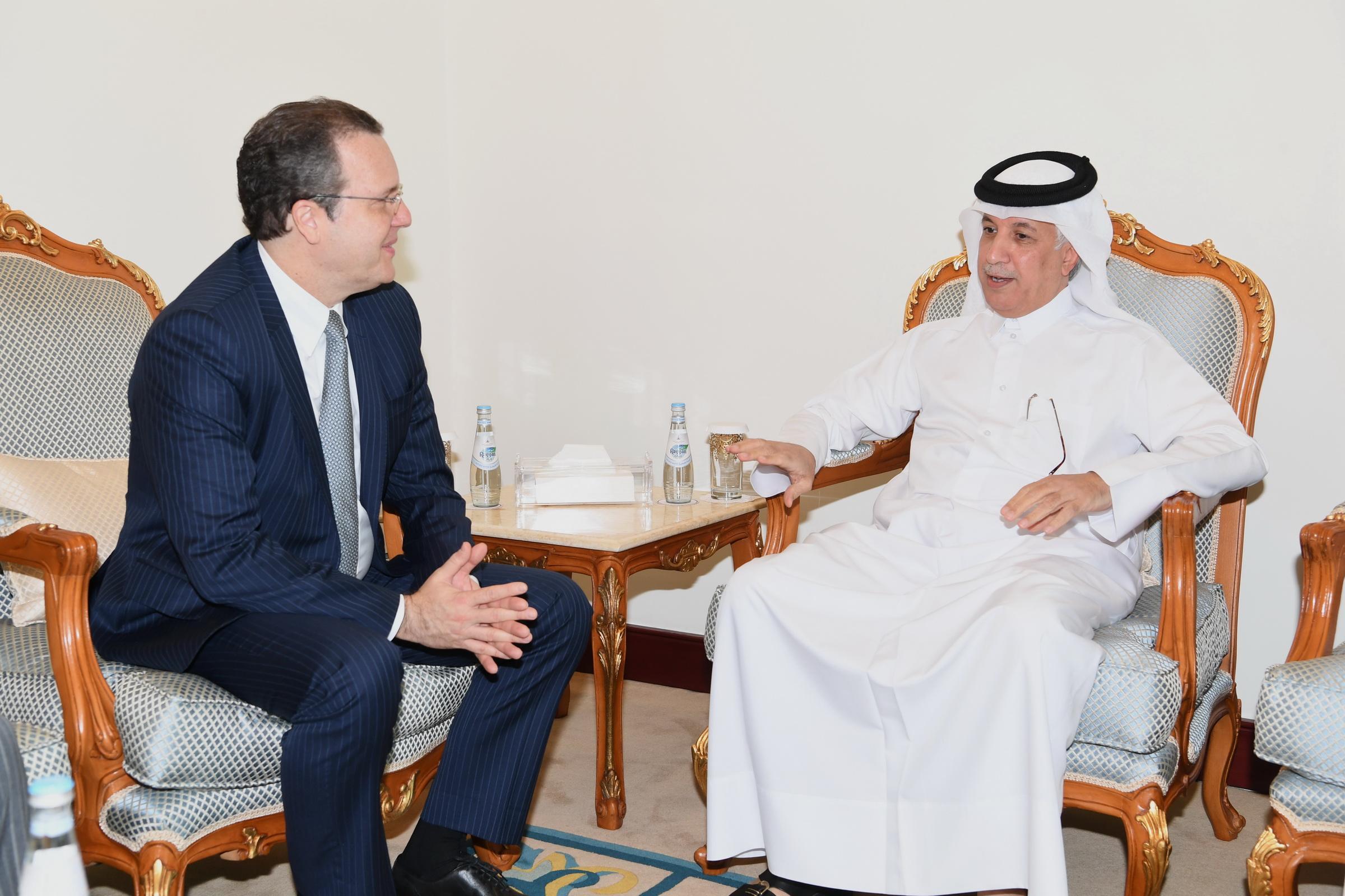 وزير الدولة للشؤون الخارجية يجتمع مع سكرتير المفاوضات الثنائية بوزارة الخارجية البرازيلية