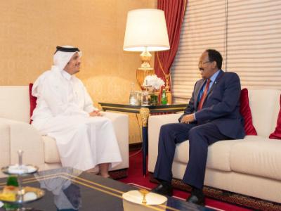 الرئيس الصومالي يستقبل نائب رئيس مجلس الوزراء وزير الخارجية