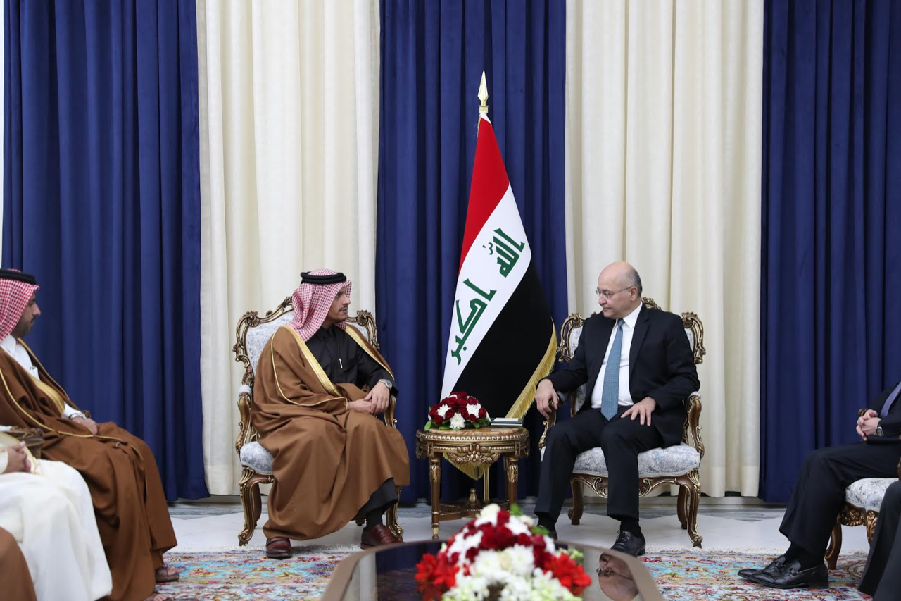 Iraqi President Meets Deputy Prime Minister and Minister of Foreign Affairs