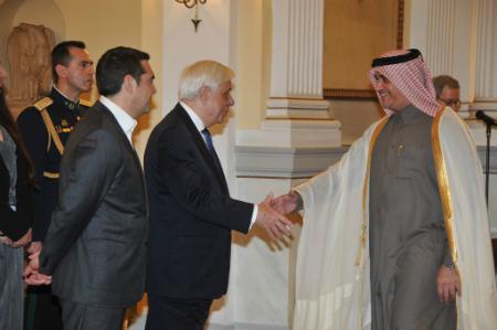 الرئيس اليوناني يستقبل سفير دولة قطر