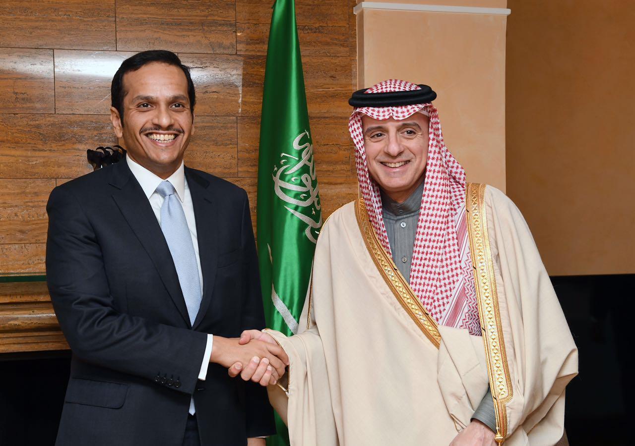 سعادة وزير الخارجية يلتقي نظيره السعودي
