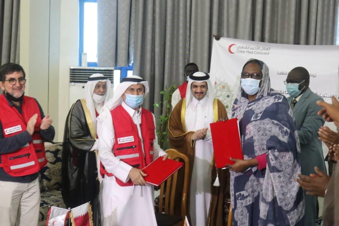 توقيع اتفاقية للاستجابة متعدد القطاعات للتعافي من آثار الفيضان بين الهلال الأحمر القطري والهلال الأحمر السوداني