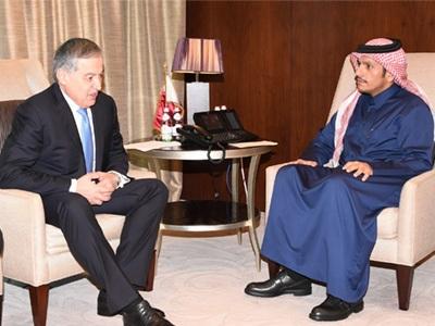 سعادة وزير الخارجية يجتمع مع نظيره الطاجيكي