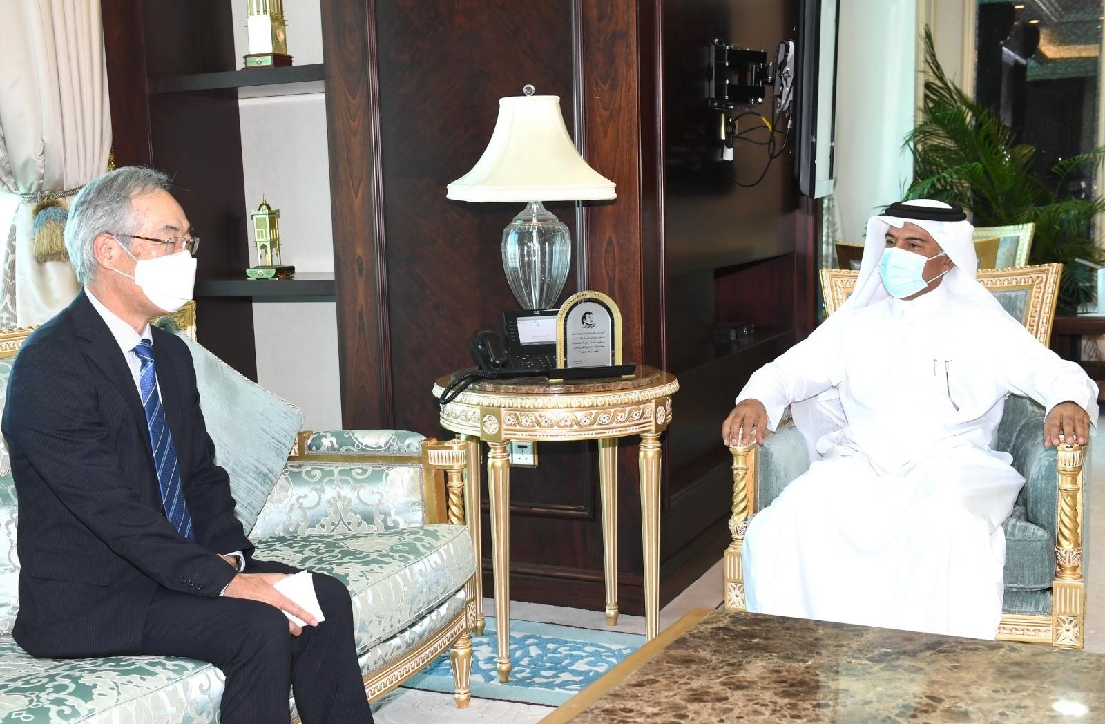 الأمين العام لوزارة الخارجية يجتمع مع السفير الياباني