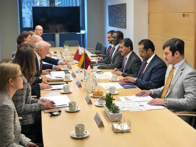 انعقاد الجولة الأولى من المشاورات السياسية بين دولة قطر وليتوانيا