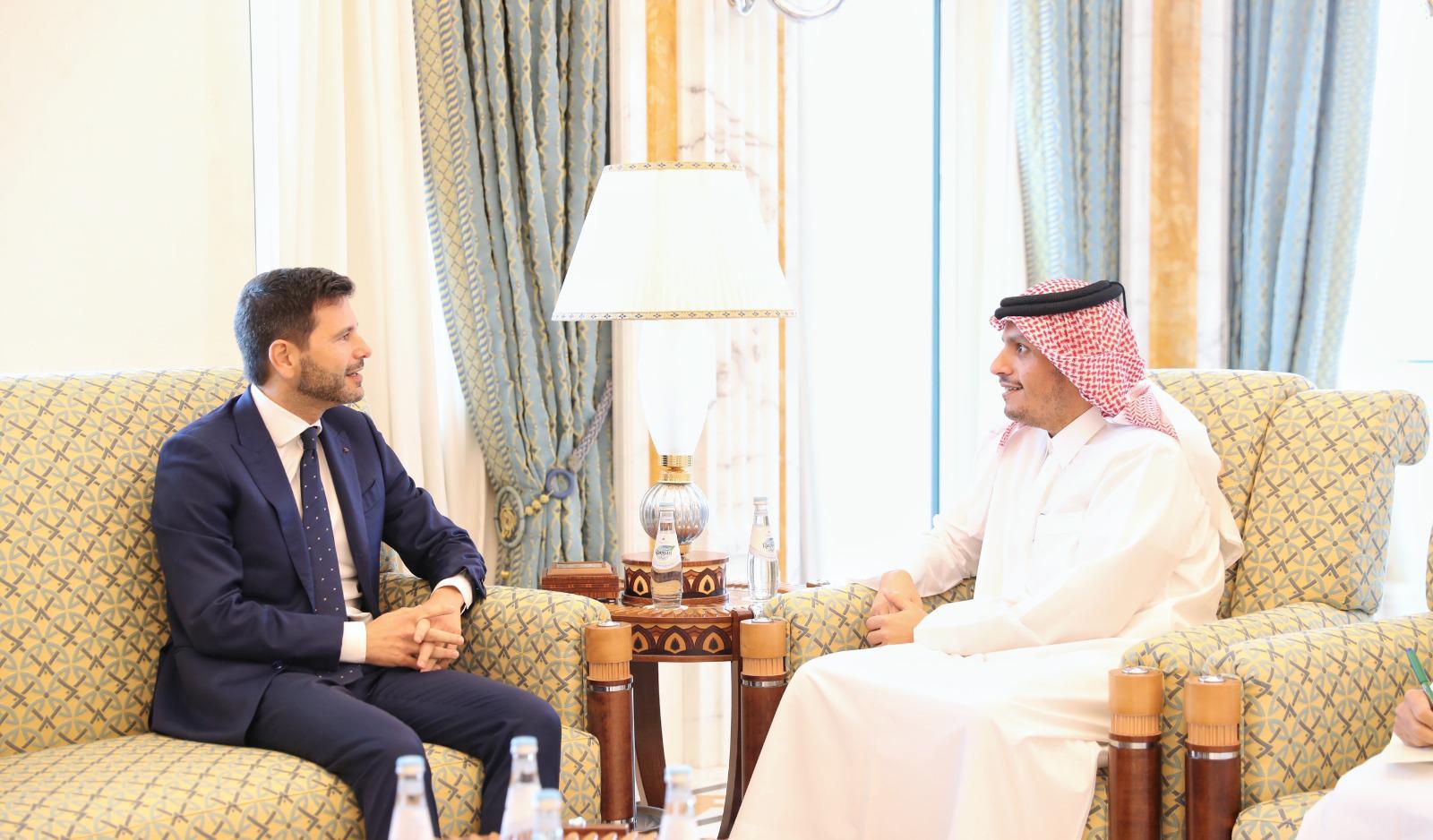 نائب رئيس مجلس الوزراء وزير الخارجية يجتمع مع السفير الإيطالي