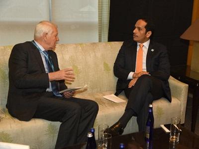 سعادة وزير الخارجية يجتمع مع عدد من نظرائه على هامش الاجتماع الوزاري حول داعش