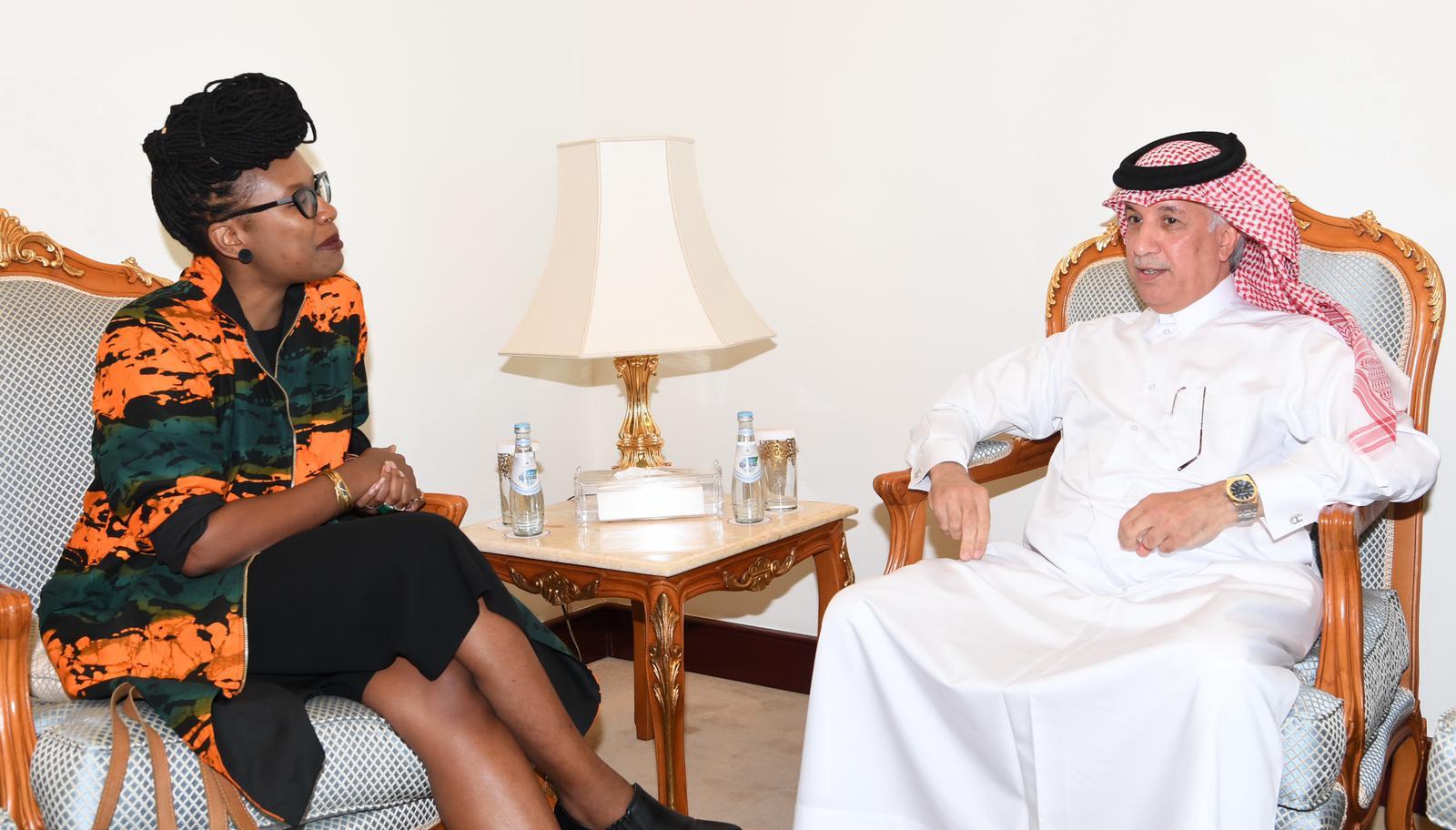وزير الدولة للشؤون الخارجية يجتمع مع مسؤولة أممية