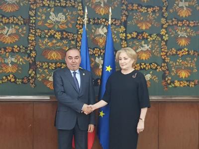 رئيسة وزراء رومانيا تستقبل سفير دولة قطر