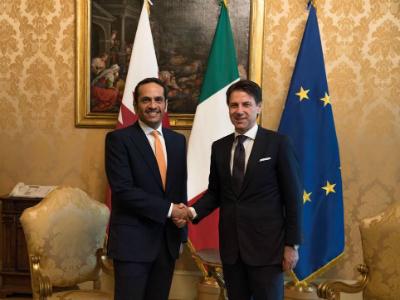 رئيس الوزراء الإيطالي يستقبل نائب رئيس مجلس الوزراء وزير الخارجية