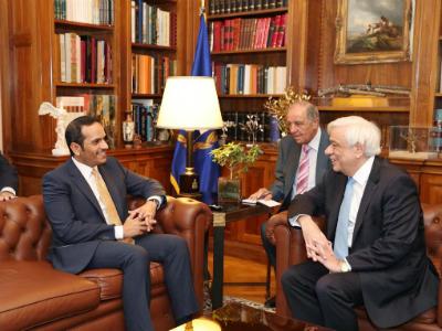 رئيس جمهورية اليونان يستقبل نائب رئيس مجلس الوزراء وزير الخارجية