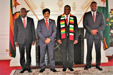 President of Zimbabwe Receives Credentials of Qatar's Ambassador