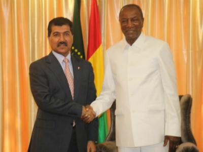 رئيس جمهورية غينيا يستقبل الأمين العام لوزارة الخارجية