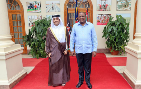 President of Kenya Meets Deputy Prime Minister and Minister of Foreign Affairs