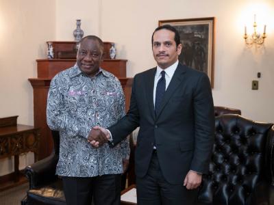 رئيس جنوب إفريقيا يستقبل نائب رئيس مجلس الوزراء وزير الخارجية