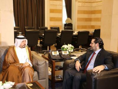 رئيس مجلس الوزراء اللبناني يستقبل سفير دولة قطر