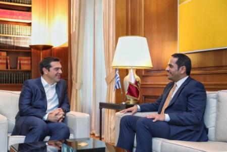 رئيس مجلس الوزراء اليوناني يستقبل نائب رئيس مجلس الوزراء وزير الخارجية