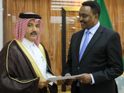 رسالة خطية من نائب رئيس مجلس الوزراء وزير الخارجية لوزير الخارجية الإثيوبي