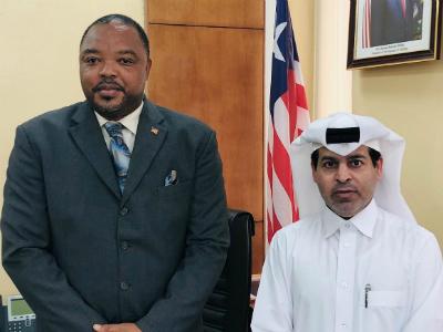 رسالة خطية من نائب رئيس مجلس الوزراء وزير الخارجية لوزير الخارجية الليبيري