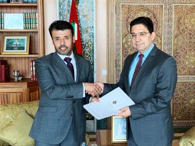 رسالة خطية من نائب رئيس مجلس الوزراء وزير الخارجية لوزير الشؤون الخارجية والتعاون الدولي المغربي