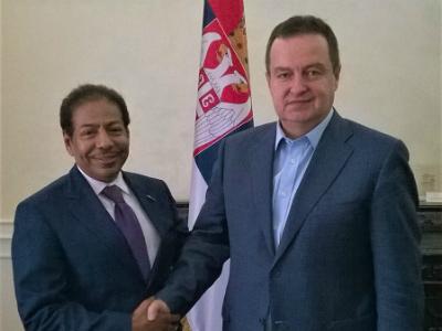 رسالة من نائب رئيس مجلس الوزراء وزير الخارجية إلى النائب الأول لرئيس الوزراء ووزير الخارجية الصربي