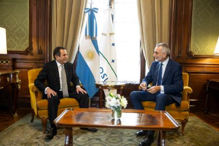 رسالة من نائب رئيس مجلس الوزراء وزير الخارجية إلى وزير الخارجية الأرجنتيني