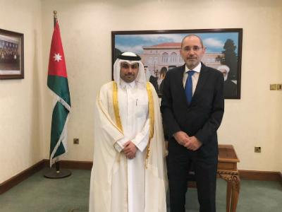 رسالة من نائب رئيس مجلس الوزراء وزير الخارجية إلى وزير الخارجية الأردني
