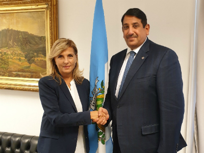Deputy Prime Minister and Minister of Foreign Affairs Sends Message to Minister of Foreign and Political Affairs and Justice of Republic of San Marino
