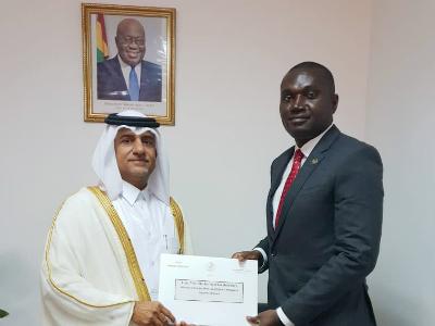 رسالة من نائب رئيس مجلس الوزراء وزير الخارجية لوزيرة خارجية غانا