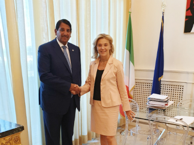 رسالة خطية من نائب رئيس مجلس الوزراء وزير الخارجية لوزير الشؤون الخارجية والتعاون الدولي الإيطالي