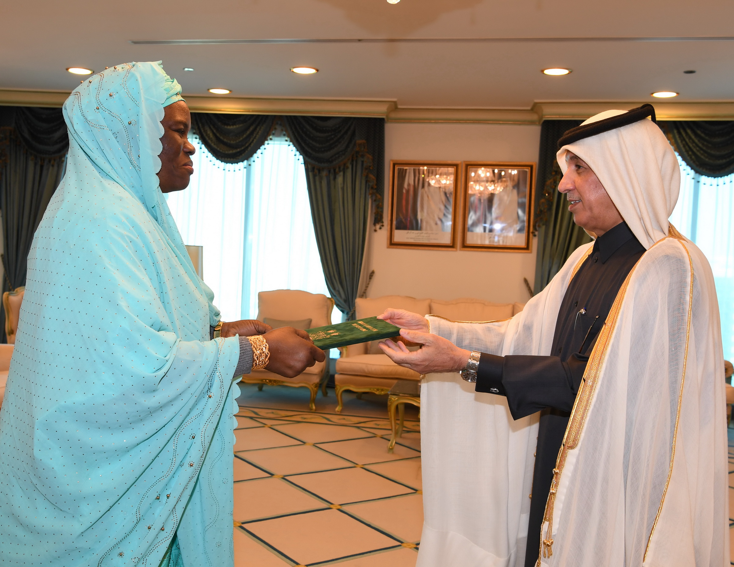 Minister of State for Foreign Affairs Receives Copy of Credentials of Ambassador of Sierra Leone Republic