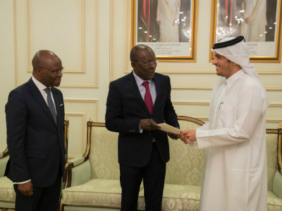HH the Amir Receives Written Message from President of Benin