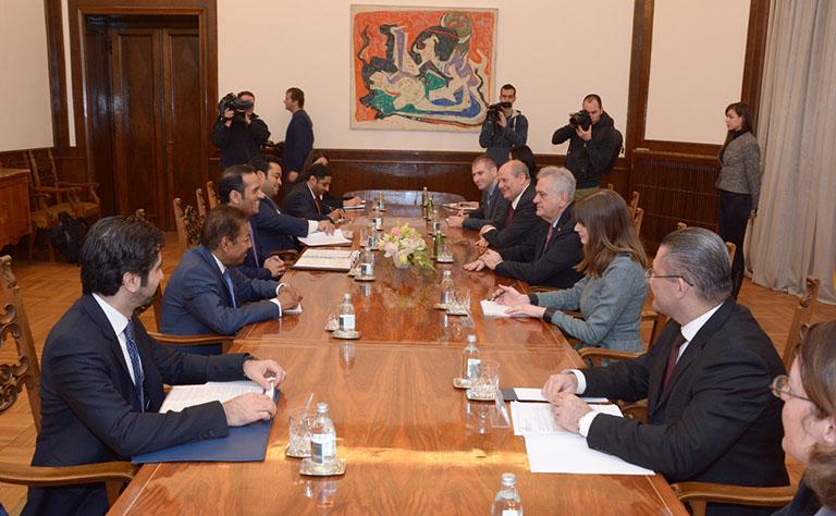 رئيس صربيا يستقبل سعادة وزير الخارجية