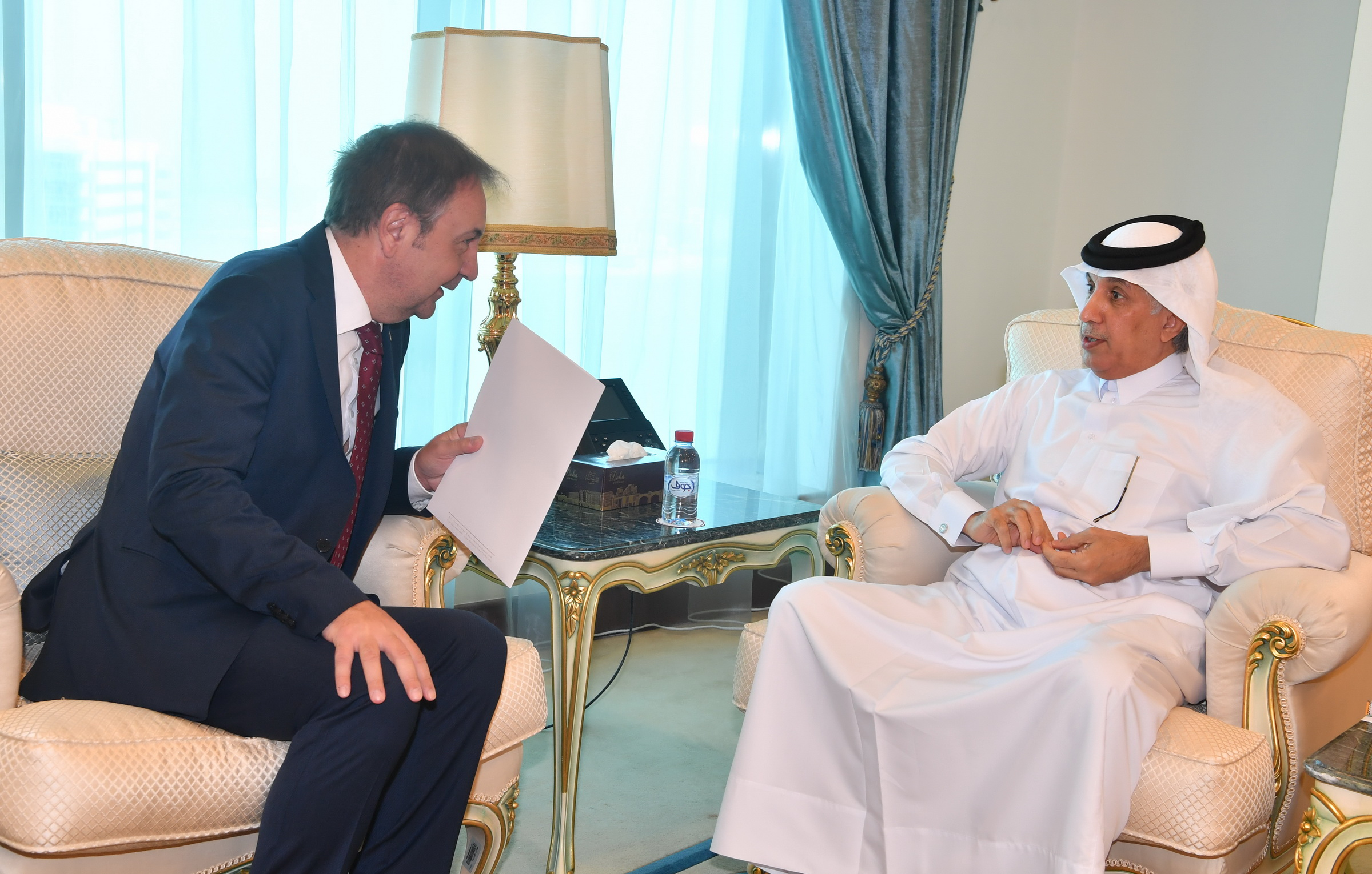 Deputy Prime Minister and Foreign Minister Receives Written Message from First Deputy PM of Serbia