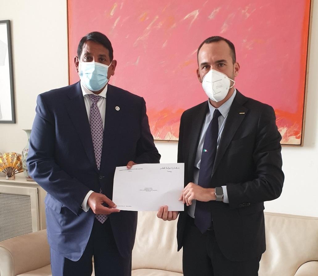 رسالة من نائب رئيس مجلس الوزراء وزير الخارجية لوزير الخارجية والتعاون الدولي الإيطالي