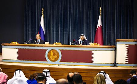 قطر وروسيا تؤكدان رغبتهما المشتركة في تعزيز علاقات التعاون وتوافقهما بشأن قضايا المنطقة
