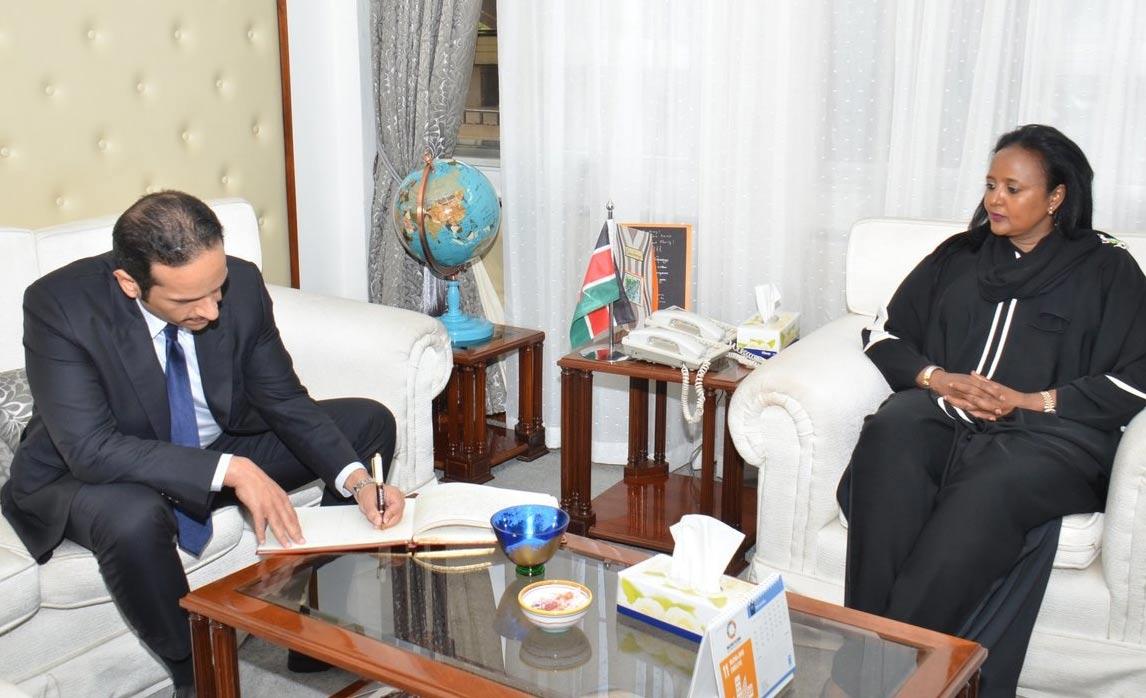 سعادة وزير الخارجية يجتمع مع نظيرته الكينية