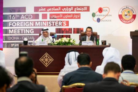 نائب رئيس مجلس الوزراء وزير الخارجية: قطر وضعت مجموعة من الالتزامات ضمن رؤيتها لرئاسة حوار التعاون الآسيوي