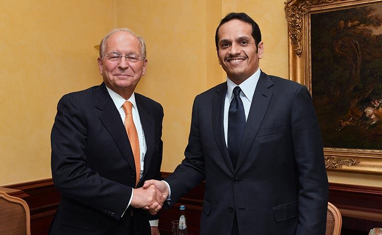 سعادة وزير الخارجية يلتقي رئيس مؤتمر ميونخ