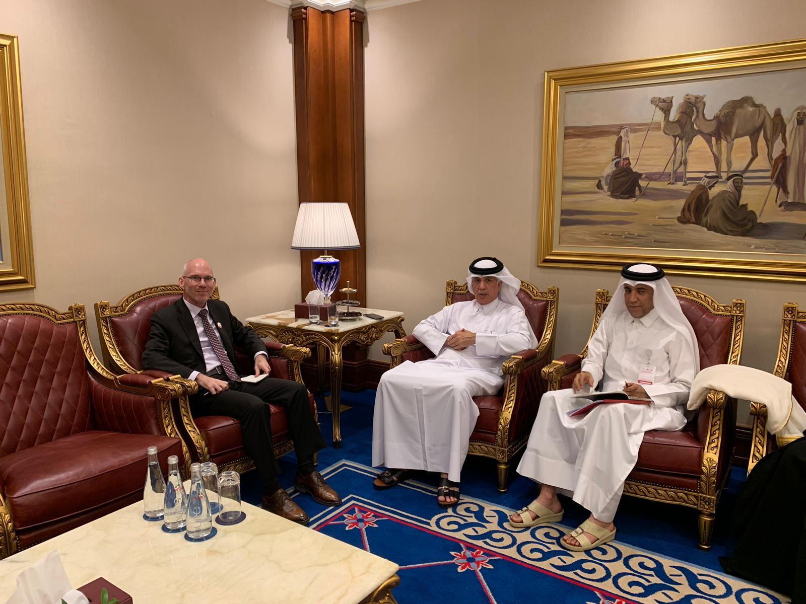 وزير الدولة للشؤون الخارجية يجتمع مع مسؤول أممي