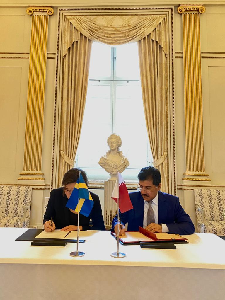 جولة مشاورات سياسية بين قطر والسويد