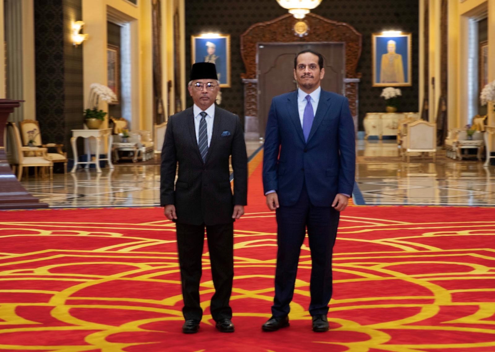 ملك ماليزيا يستقبل نائب رئيس مجلس الوزراء وزير الخارجية