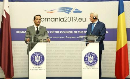 نائب رئيس الوزراء وزير الخارجية يستعرض مع وزير خارجية رومانيا التعاون في مجالات التجارة والطاقة والتعليم والاستثمار