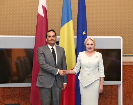 نائب رئيس مجلس الوزراء وزير الخارجية يجتمع مع رئيسة وزراء رومانيا