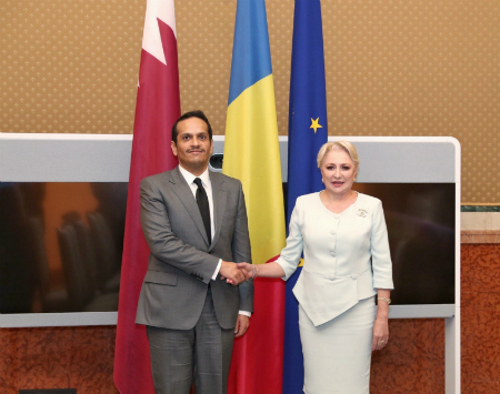 Deputy Prime Minister and Minister of Foreign Affairs Meets Prime Minister of Romania