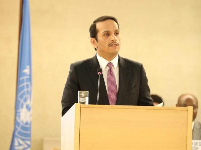 نائب رئيس مجلس الوزراء وزير الخارجية: دولة قطر تشهد تطورات مهمة في المجال التشريعي لتعزيز وحماية حقوق الإنسان
