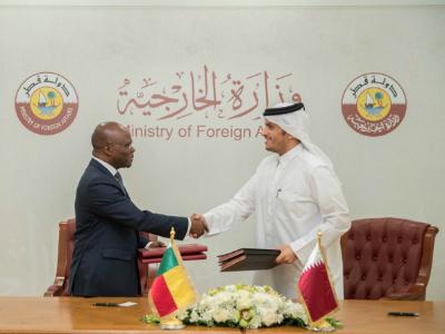 نائب رئيس مجلس الوزراء وزير الخارجية يعقد جلسة مباحثات مع وزير خارجية بنين